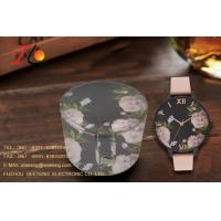 flower watch with pu leather band fashion watch for ladies with a pu flower design box