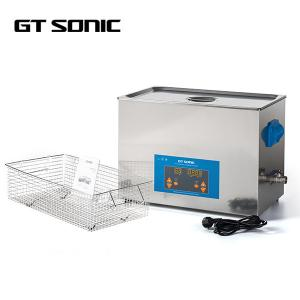 China 400W Ultrasonic Cleaning Equipment , 20L Lab Ultrasonic Washer With Drain Valve on sale