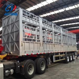 China New designed 13 meter aluminum material livestock semi trailer for cattles, horse and sheeps on sale