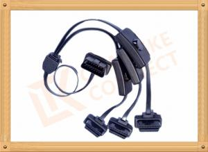 China PVC Insulation Obd2 Cable Extension Male To Female Cable Durability on sale