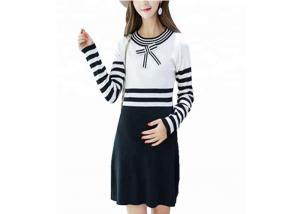 China Office Wear Maternity Cable Knit Sweater With Bow Dresses Eco Friendly on sale