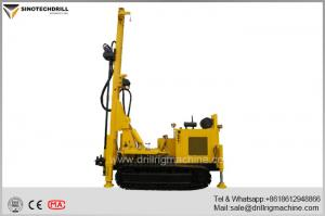 China Rotary Drill Rig Machine For Water Well , Crawler Drilling Rig Geothermal Air Conditioner Hole on sale