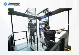 China Interactive Multiplayer 9D VR Shooting Game Two Players Walking Platform on sale