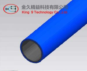 China Blue Color 1.0mm Lean Pipe on sale