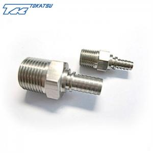 China 1/2 Stainless Steel crimpling Hydraulic Hose Fitting with male thread on sale