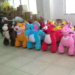 China Hansel hot selling mall moving electric motorized animal plush ride on sale