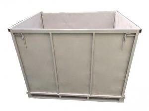 China Galvanized Welded Warehouse Metal Storage Bins Folding Steel Industrial Collapsible Cargo on sale