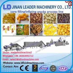 China snack extruder machine price commercial corn puffs machine and packaging on sale