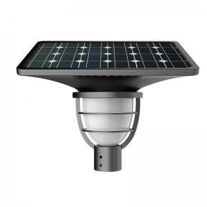 China Solar Garden Post Top Lights Solar Pillar Column Lights Single Head Lamp for Outdoor Park Garden Gate on sale
