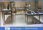 High End Stainless Steel Jewelry Store Showcase Designs With Lighting