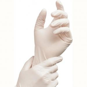 China Medical Sterile Disposable Protective Gloves , 100% Latex Safety Surgical Gloves on sale