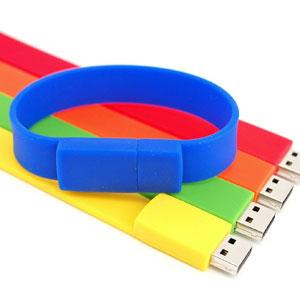 China Custom popular silicone bracelet usb flash drive on sale