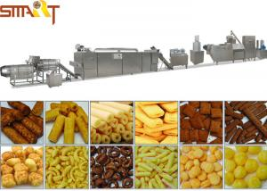 China High Performance Snacks Food Product Line , Stainless Steel Puffed Food Machine on sale