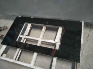 China Absolute Black Granite Countertop , Prefab Black Stone Countertops For Bathroom on sale