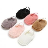 China Hot selling faux fur Soft sole slip on slippers infant sandals baby girl shoes on sale
