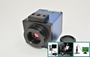 China Industrial HD Microscope Camera With U - disk Storage And Overlay Graphics on sale