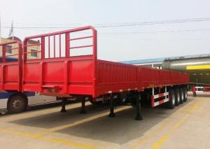 China 3 axle platform side wall cargo semi trailer with panel for sale on sale