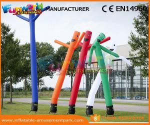 China Parachute Nylon Single Leg Inflatable Air Dancers / Air Tube Man Sky Dancer on sale
