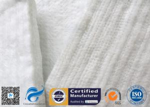 China Aluminium Foil Fiberglass Needle Mat 25MM White Acoustic Absorption Fibre Felt on sale