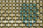 Malha tecida de bronze do metal das telas de malha com cor do metal, estilo conciso