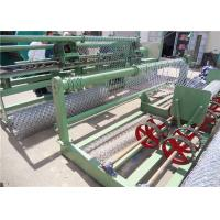 Galvanized Wire Chain Link Fence Weaving Machine , Chain Link Wire Machine 3.8T