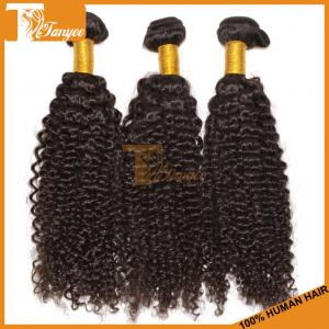 China Hot selling 100% real human hair extensions unprocessed natual color 5A virgin Brazilian kinky curly weave on sale