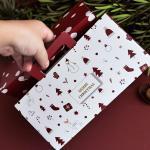 300gsm White Card Elegant Triangle Folding Paper Festive Gift Boxes