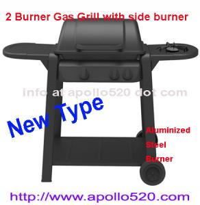 China 2 Burner Gas Barbecue with side burner on sale