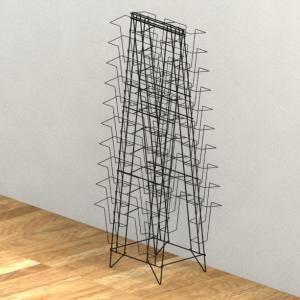 China Double Sides Metal Magazine Display Rack , 40 Pockets Floor Spinner Display Rack on sale