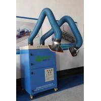 Mobile welding smoke extractor with double cartridge filters, welding fume extraction and cartridge filtration
