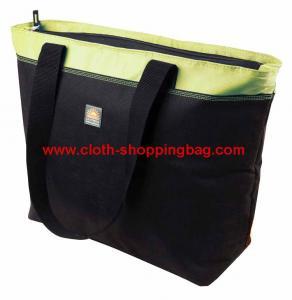 China Outdoor black built lunch shoulder bag , milk / yogurt cooler bag on sale