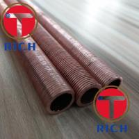 China UNS12200 Spiral Brass Finned Tube Heat Exchanger / Red Finned Copper Tubing on sale