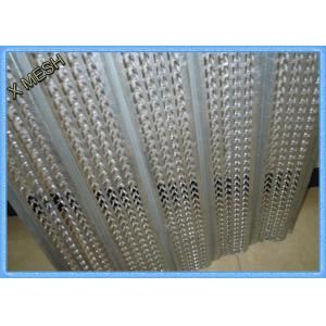 China 1/8'' 0.35mm Galvanized High Rib Expanded Metal Lath 610X2440 For Construction on sale