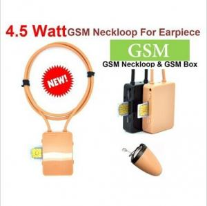 China The best  model high quality  4.5 Watt Powerful GSM Box neckloop  black Megntic mini micro Invisible spy earpiece china on sale