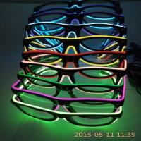 China cute el glasses/el wire glasses/glow glasses on sale