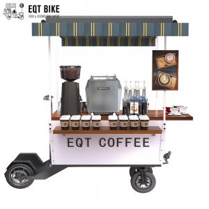 China 18KM/H Vending Scooter Box Structure Coffee Bike Cart on sale