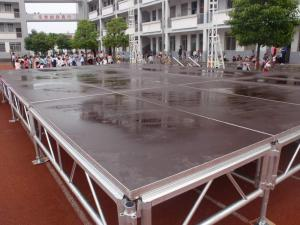 China Mobile Event Round Portable Stage Platforms For Lighting Truss Stage Adjustable Height Legs on sale