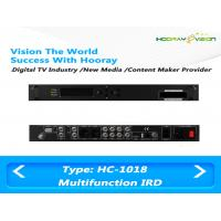 China All In One Terrestrial Digital TV Satellite Receiver IRD Support 2 CAM with HDMI SDI AV USB on sale