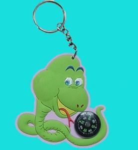 China Soft PVC Keychain with Compass, Compass PVC Keychain on sale