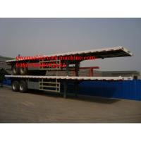 """13m Length Flat Bed Concrete Mixer Trucks For Transporting 40"""" / 20"""" Container, 2 Axle/ 3 Axle"""
