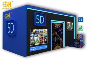 China 110V / 220V / 380V 2KW 5D Movie Theater Cinema Simulator Cabin on sale
