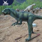 Winter Garden Decorative Realistic Dinosaur Models In Steel Frame