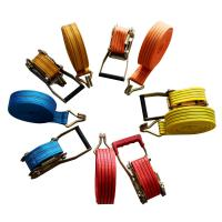 China Ratchet Tie Down Straps With Double J Hooks, 0.8T - 10Ton Strength,1-15Meter, Thickening on sale