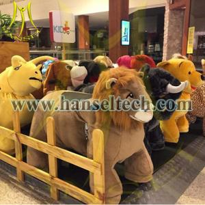 China Hansel battery operated ride animals animal electronic rides plush toys play by play on sale