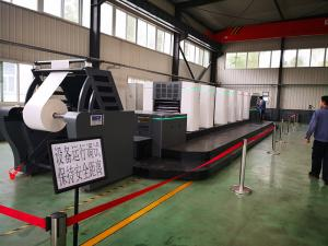China Fully Automatic 6 Colour Offset Printing Machine Shaftless Driving 30000kg OPT660 on sale