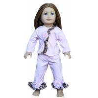 Leopard Edge Madame Alexander 18 inch Doll Clothes , White Cotton American Doll Clothing