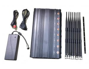 China 1-40m Adjustable 24/7 Continuously Working 8 Bands Cell Phone 2G 3G 4G WIFI GPS Signal Jammer wholesale