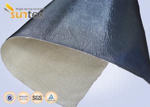 China 14 microns Aluminum Foil Fiberglass Cloth Fire Insulation Blanket Glass Fiber Fabric on sale