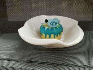 China Plastic Porcelain Dinnerware Dessert Bowl Flower Decorative Border Top Dia.18CM on sale