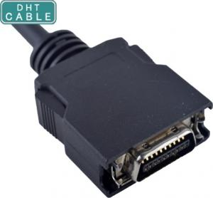 China Black HPCN 20Pin Male Plastic Assembly SCSI Cables Double-Shield with OEM / ODM on sale